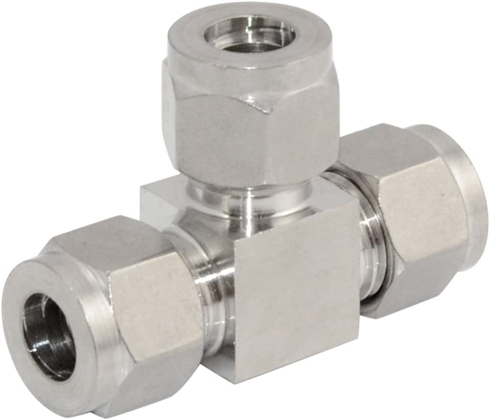"""Conector macho doble virola adaptador del tubo 10 mm ODx1//4/"""" Npt Acero Inoxidable 304"""
