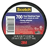 "3M Scotch Vinyl Heat-Resistant UL Listed CM Certified Electrical Tape .75"" x .007"" x 66'"