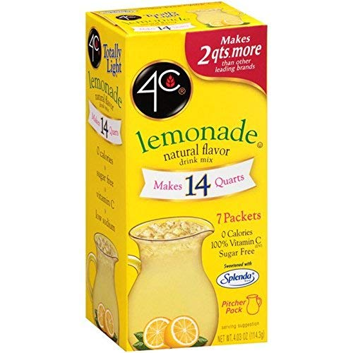 - 4C Totally Light Lemonade, 7-Count Packets (Pack of 4)