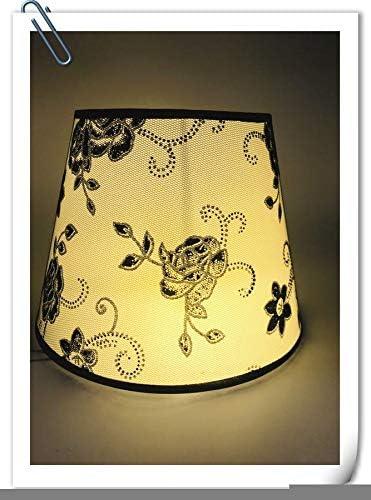 Naeqmx Pantalla para lámpara de Mesa de diseño de Flor diseño de PVC Protectora de lámpara E27 Pantalla de Noche Pantalla decoración para la casa: Amazon.es: Hogar