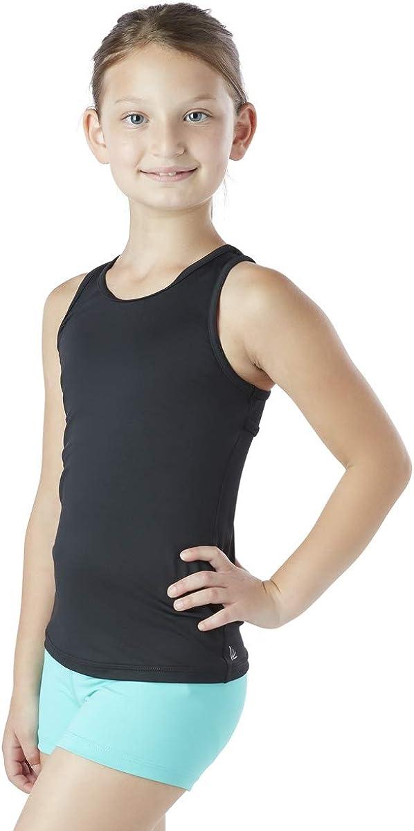 Liakada Girls Wide Strap Ladder-Back Tank Top for Dance Aerobics Yoga Cheer! Gym