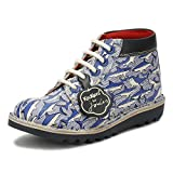 Kickers Joules Junior Blue Leather Kick Hi Boots-UK 2