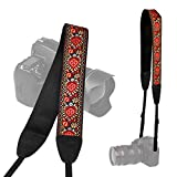 TARION Camera Shoulder Neck Soft Vintage Jacquard Weave Strap Belt for SLR DSLR Mirrorless Digital Cameras Nikon Canon Sony Pentax B Style