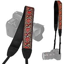 TARION Camera Shoulder Neck Soft Vintage Jacquard Weave Strap Belt for SLR DSLR Mirrorless Digital Cameras Nikon Canon Sony Pentax B Style