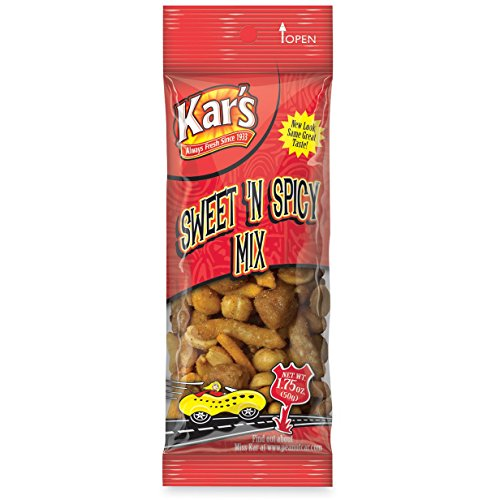 Kar's Products - Kar's - Nuts Caddy, Sweet 'N Spicy Trail Mix, 1.75 oz. Bags, 24 Bags/Pack - Sold As 1 Pack - Quality nut and snack items. - Packaged in single-serving size packets. - (Single Serving Trail Mix compare prices)