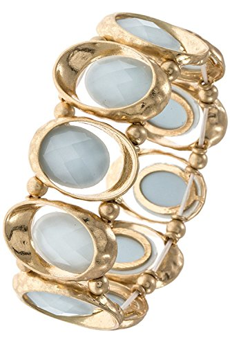 Karmas Canvas Faceted Oval Gem Textured Link Stretch Bracelet (Lt. - Baby Dior Buy Online