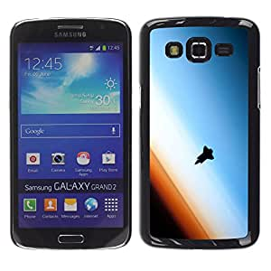 QCASE / Samsung Galaxy Grand 2 SM-G7102 SM-G7105 / transbordador espacial atmósfera terrestre órbita arte / Delgado Negro Plástico caso cubierta Shell Armor Funda Case Cover