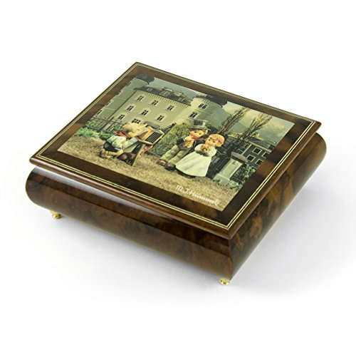 Handcrafted Italian Ercolano Musical Jewelry Box - ''The Photographer'' by MI Hummel - Rock of Ages - Christian Version by MusicBoxAttic