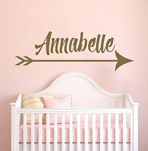 Custom Arrow Name Gold Series - Baby Girl - Wall Decal Nurse