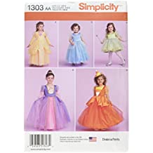Simplicity Drake & Ferris Costume Pattern 1303 Toddler Costume - Princess, Fairy, Candy Corn and More Sizes 1/2-1-2
