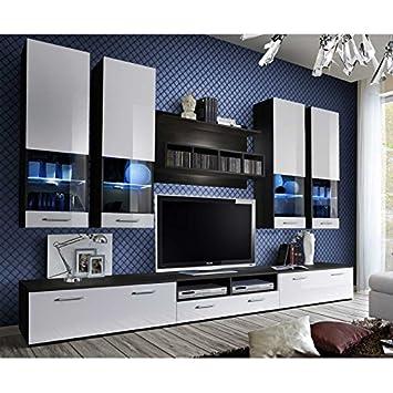 Paris Prix Meuble Tv Mural Design Dorade 300cm Blanc