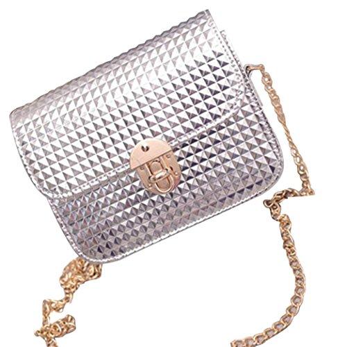 Satchel Women Retro Silver Anyada leather Silver Girls Bag Shoulder Messenger Fashion Bag Handbag gHHY1