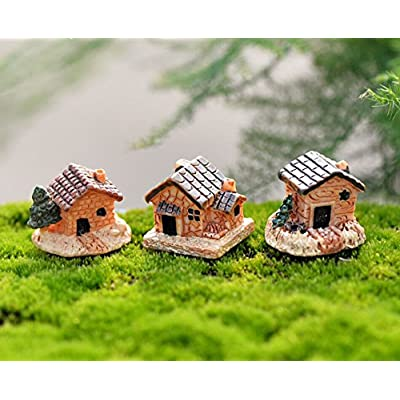 ALOVEMO Miniature Fairy Garden Stone Houses Mini Cottage House Miniatures Decor Accessories, Gardening Decoration Kit for Outdoor, Patio, Micro Landscape, Yard Bonsai Decals : Industrial & Scientific