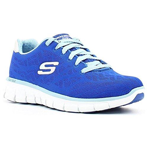 Skechers 12099, Chaussons de gymnastique pour femme Bleu blu (bluette)