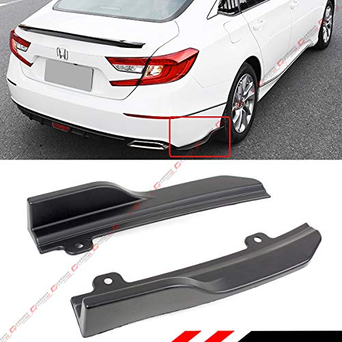 - Fits for 2018-2019 Honda Accord JDM Rear Bumper Side Corner Spat Valance Apron Splitters
