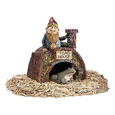 Garden Gnome Statue - Garden Gnome Toad House - Frog House - Fairy Garden - Gnome Village: Garden & Outdoor