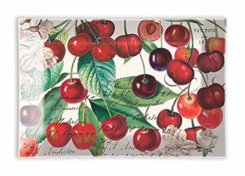 Michel Design Works Rectangular Glass Soap Dish, Black Cherry