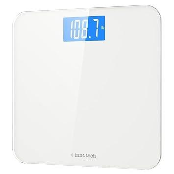 innotech digital bathroom scale with easy to read backlit lcd - Digital Bathroom Scales