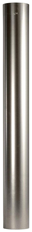 Bertrams 31410 Ofenrohr 100cm FAL-Stahlblech feueraluminiert, Silber, 100 cm