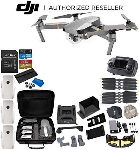 Cheap DJI Mavic Pro Platinum Collapsible Quadcopter 3-Battery Ultimate Bundle