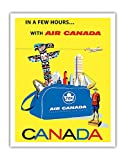 Canada - Air Canada TCA (Trans-Canda Air Lines) - Vintage Airline Travel Poster by Roberto Floreani c.1960 - Fine Art Print - 11in x 14in