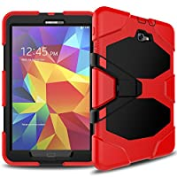 Samsung Galaxy Tab A 10.1 Case(SM-T580),Slim Heavy Duty Shockproof Rugged Case High Impact Resistant Defender Full Body Protective Cover with Screen Protector