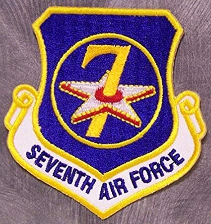 Amazon com: Embroidered Military Patch USAF 7th Air Force New