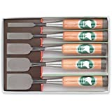 Japanese Oire Nomi Special Alloy 5pc Chisel Set by Ice Bear