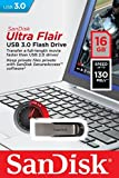 SanDisk Ultra Flair USB 3.0 16GB Flash Drive High Performance up to 130MB/S (SDCZ73-016G-G46)