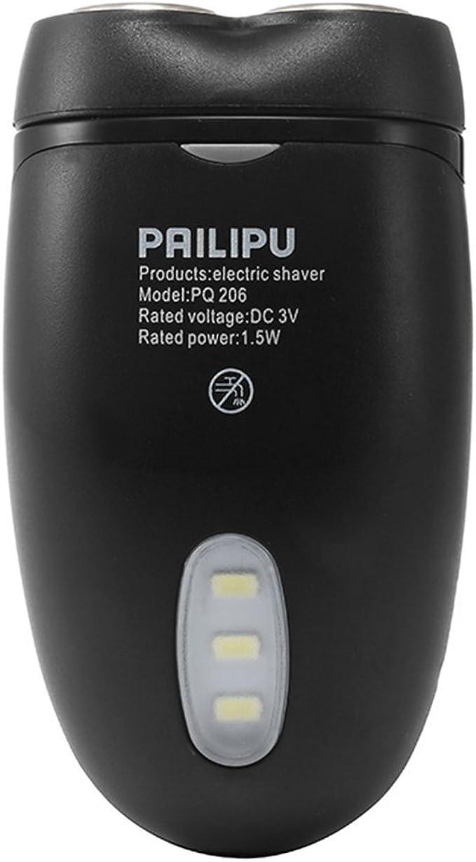 Hombres sin cuerda eléctrica afeitadora afeitadora barba pelo Clipper con pilas multifuncional de doble cabeza con iluminación LED: Amazon.es: Ropa y accesorios