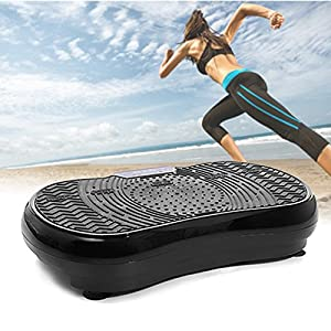 360° Vibration Fitness Full Body Vibration Machine Plate Exercise with 2 Straps ,Wireless Remote Controller