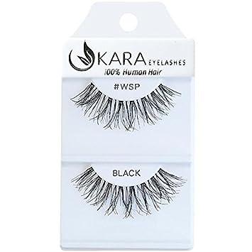 e73864b0271 Amazon.com: Kara Beauty 100% Human Hair False Eyelashes Wispies- WSP ...