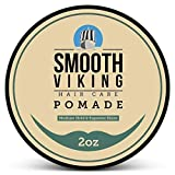 Pomade for Men, Medium Hold & High Shine,Hair Styling Formula for Straight, Thick and Curly Hair, 2 OZ - Smooth Viking...