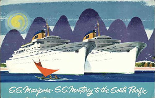 Matson Lines New Luxury Liners - Mariposa and Monterey Cruise Ships Original Vintage Postcard