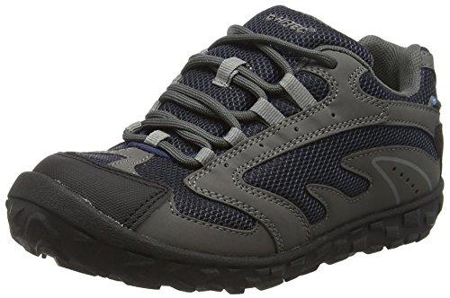 Hi-Tec Jungen Meridian Low Waterproof Junior Sneakers, Grau (Charcoal/Navy/Light Grey 052), 31 EU