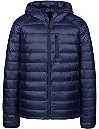 Men's Packable Insulated Light Weight Hooded Puffer Down Jacket
