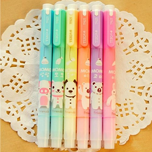 Novelty Assorted Highlighters Fluorescent Different product image