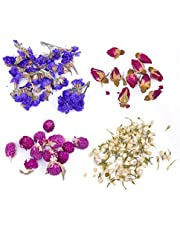 iSuperb Natural Dried Flowers Buds Variety 4 Bags Include Rose, Jasmine, Forget-me-not, Amaranth, for Candle Making Soap DIY Bath Bomb and Botanical Oil Craft Making Kit (Flower)
