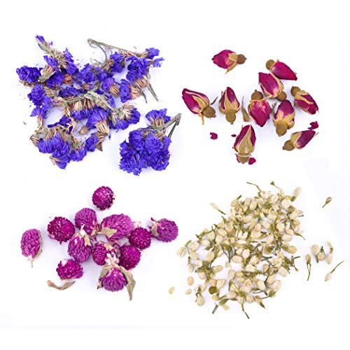 iSuperb Dried Flowers Natural Flowers for Candle Making Soap Making DIY Bath Bomb Making Kit (Flower)