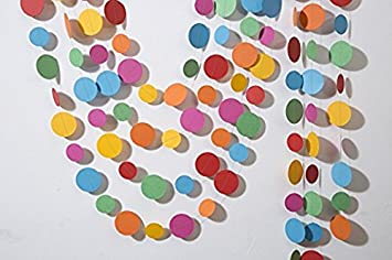 Multicolored circles garland Easter garland Birthday decorations