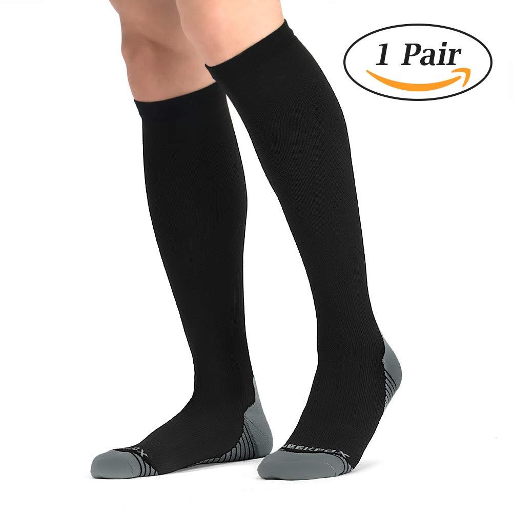 NEEKFOX Compression Socks for Men & Women (1 Pair) Compression Stockings for Running, Nurses, Athletic, Flight Travel