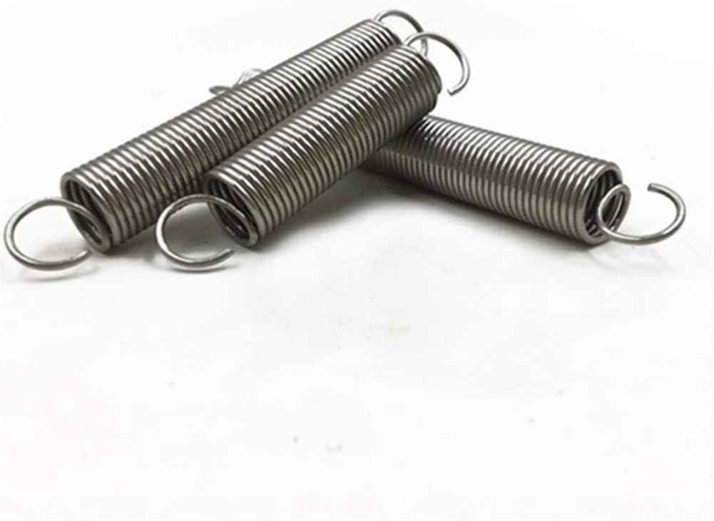 Ressorts de compression Extension /à long ressorts de traction avec des crochets de 2 mm Diam/ètre fil x 10 mm Diam/ètre x sortie Size : 2x10x100mm 100-300 mm Longueur Ressorts de