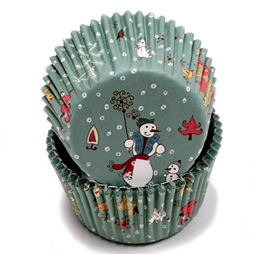 Chef Craft 50 Count Cupcake Liners, Snowman