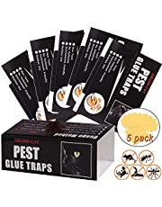 Mouse Glue Traps Large Size, Pieces Peanut Butter Mouse Traps Glue Pads Super Sticky Boards for Indoor and Outdoor Mice, Rats, Rodents, Pests, Insects, Ants, Cockroach, Spiders.