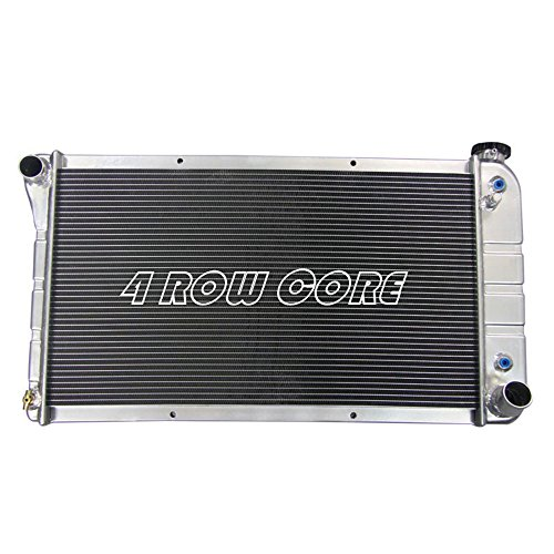 OzCoolingParts Designs Pro Chevy Radiator - 4 Row Full Aluminum Radiator for 1967-1972 Chevy GMC C/K Series C10 C20/K10 K20/K30 Pickup Trucks Engine Raditor