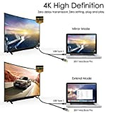 hdmi type c to rca - Ocamo Type-C to HDMI Cable Adapter 4K 2M High-definition Video Adapter Cable with Power Charger Cord
