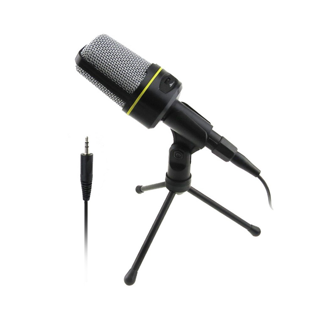 VAlinks 3.5mm Computer Microphone Condenser PC Mic with Tripod Stand Hifi Sound for Desktop Laptop Online Skype Facetime Youtube Cortana Studio Chatting Recording Singing-6ft 3.5mm XLR Audio Cable
