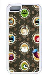 APPLE iPhone 5C Case - Funny Cartoon Cool Retro Customize iPhone 5C Cover White