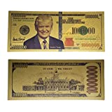 Promise of Quality Donald Trump Million Dollar Bill Banknote, 24k Gold Coated, Great Gift for Coin / Currency Collectors or any Republican who needs a Small Loan