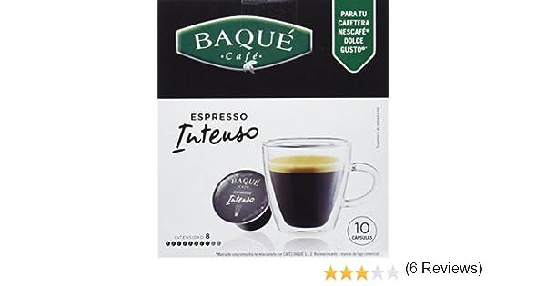 Cafés Baqué Cápsulas Compatibles Dolce Gusto Intenso - 70 gr ...